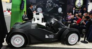 世界で初めて3Dプリンターで作られた電気自動車「Strati」